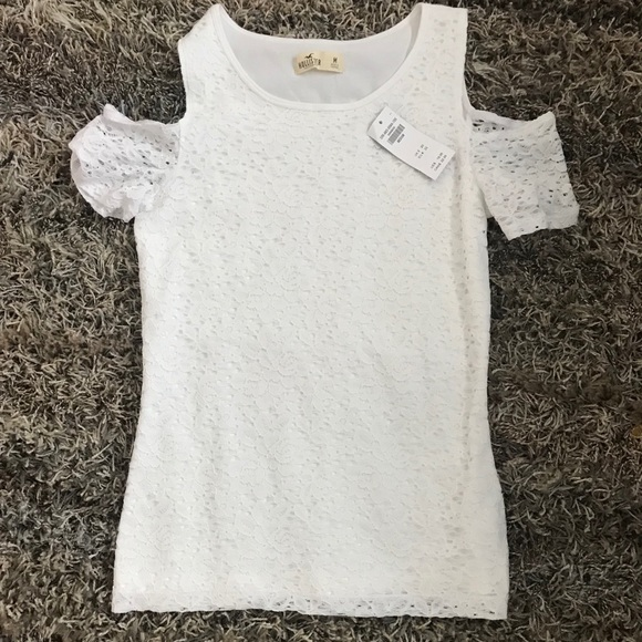 Hollister Tops - White lace hollister shirt